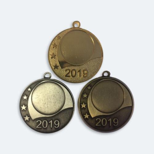 Årsmedaljer 42mm i Guld, Silver och Brons - 11501-1,2,3