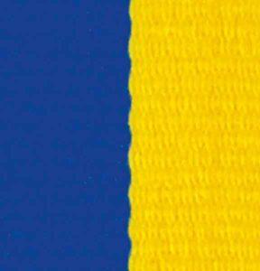 Medaljband blågult långt, 22mm bredd (70001)