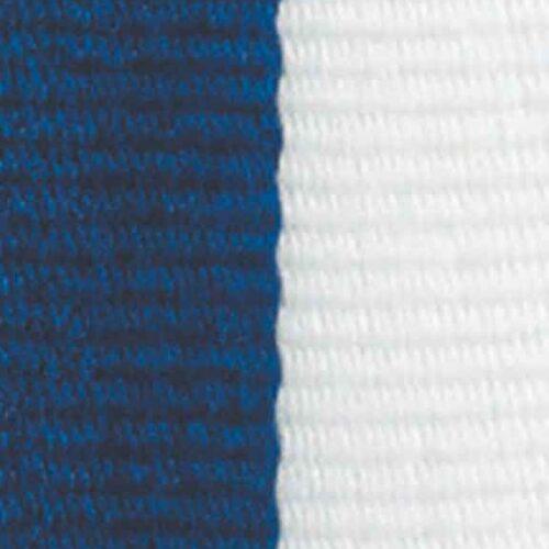 Medaljband blåvitt långt, 22mm bredd (70002)