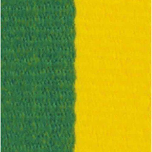 Medaljband gröngult långt, 22mm bredd (70012)