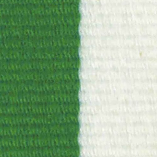 Medaljband grönvitt långt, 22mm bredd (70005)