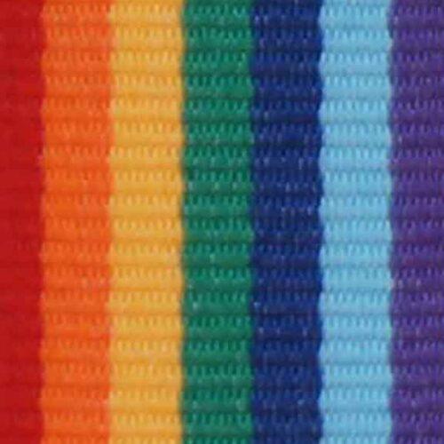Medaljband regnbåge långt, 22mm bredd (70044)