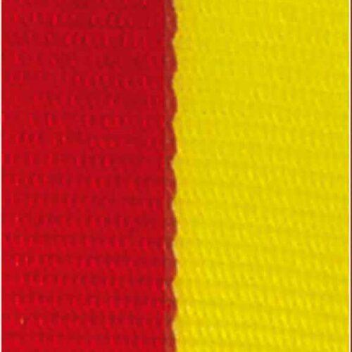 Medaljband rödgult långt, 22mm bredd (70006)