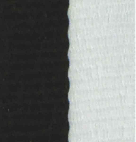 Medaljband svartvitt långt, 22mm bredd (70009)
