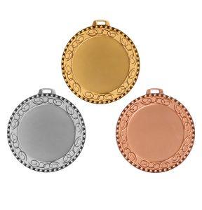Medaljer 70mm i Guld, Silver och Brons - 11519-1,2,3 - Vit bakgrund
