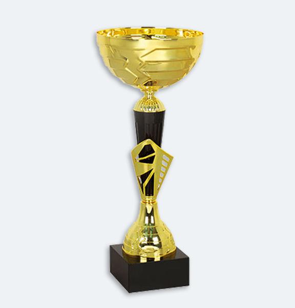 Århus - Pokal i guld och svart med svart sockel (22021)