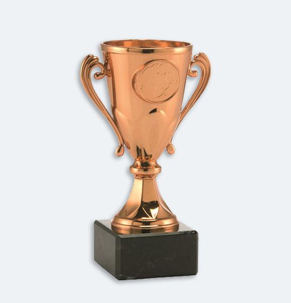 Arnhem - Pokal i brons med svart marmorsockel och plats för motiv (24033)