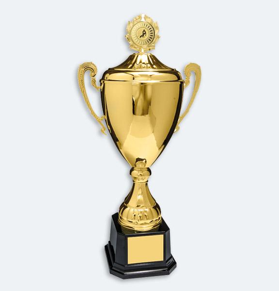 Bogota - Pokal i guld med lock (22501)