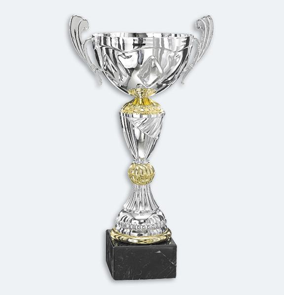 Brisbane - Pokal i guld och silver med svart marmorsockel (43841)