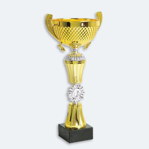 Brooklyn - Pokal i guld och silver med marmorsockel (22071)