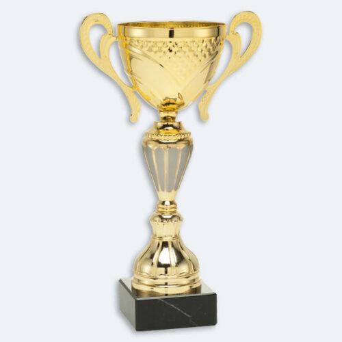 Burnley - Pokal i guld med grå detaljer och svart sockel (24621)