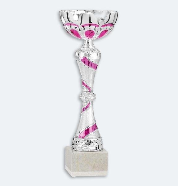 Hillröd - Pokal i rosa och silver (41351)