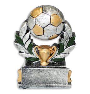 Statyett fotboll, boll pokal vit bakgrund (54003)