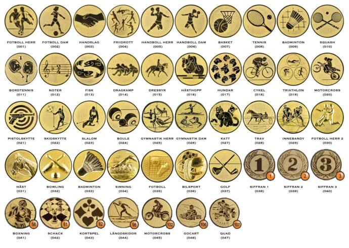 Winnab standardmotiv för medaljer, pokaler och statyetter